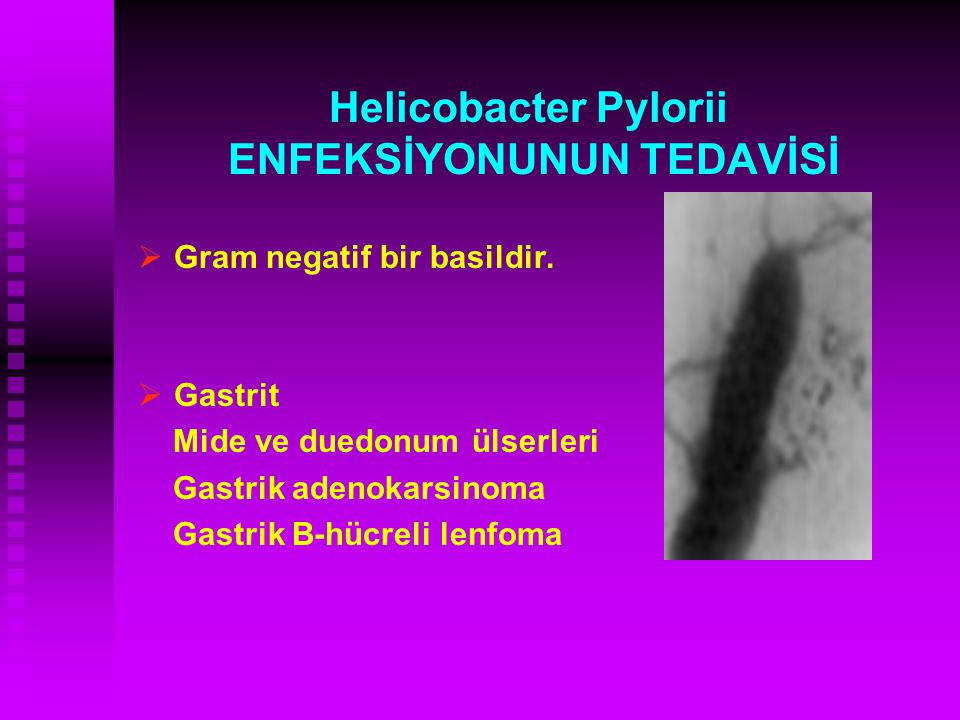 Helicobacter Pylorii ENFEKSİYONUNUN TEDAVİSİ