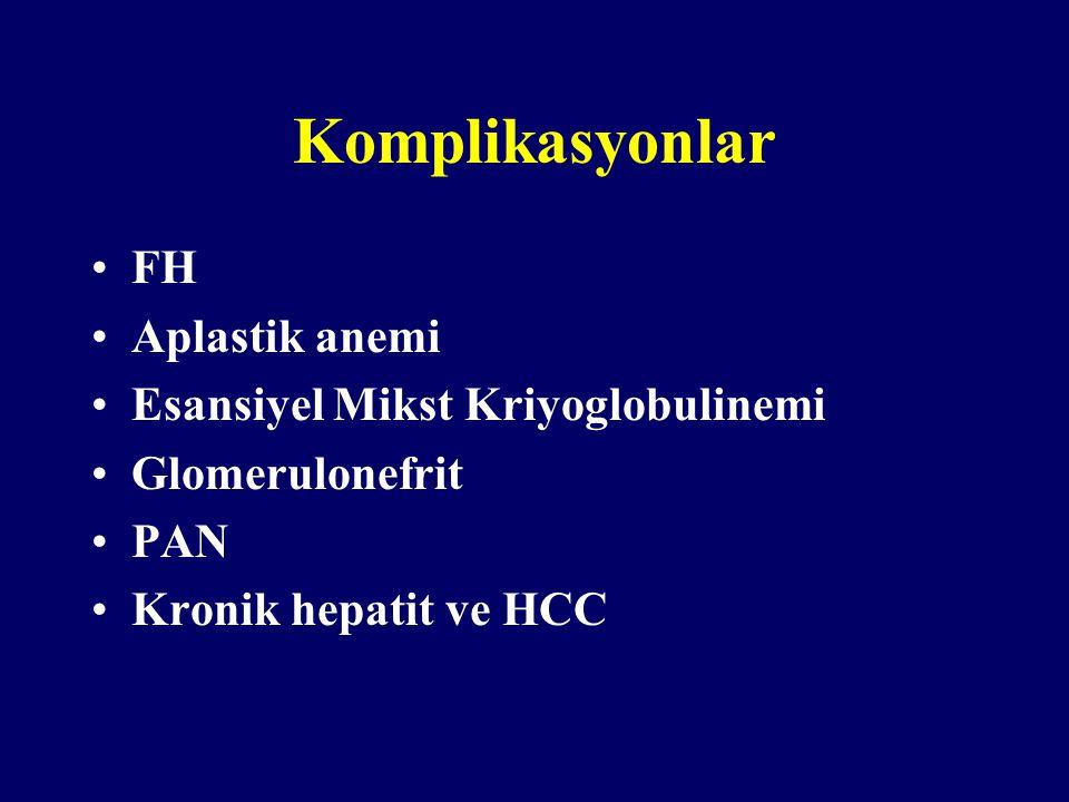 Komplikasyonlar FH Aplastik anemi Esansiyel Mikst Kriyoglobulinemi