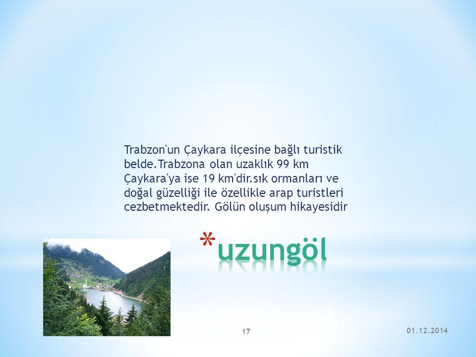 Trabzon un Çaykara ilçesine bağlı turistik belde