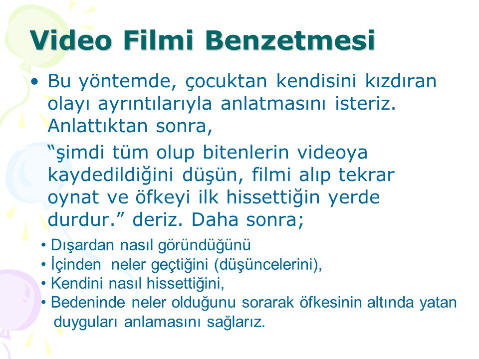 Video Filmi Benzetmesi