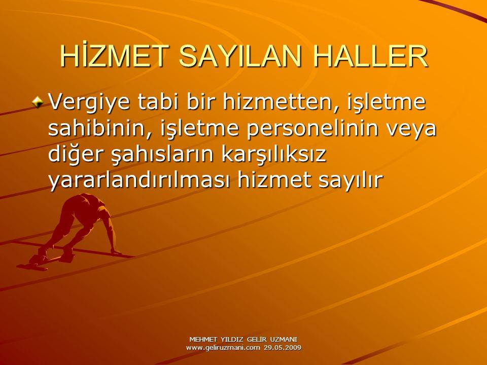 MEHMET YILDIZ GELİR UZMANI www.geliruzmani.com 29.05.2009