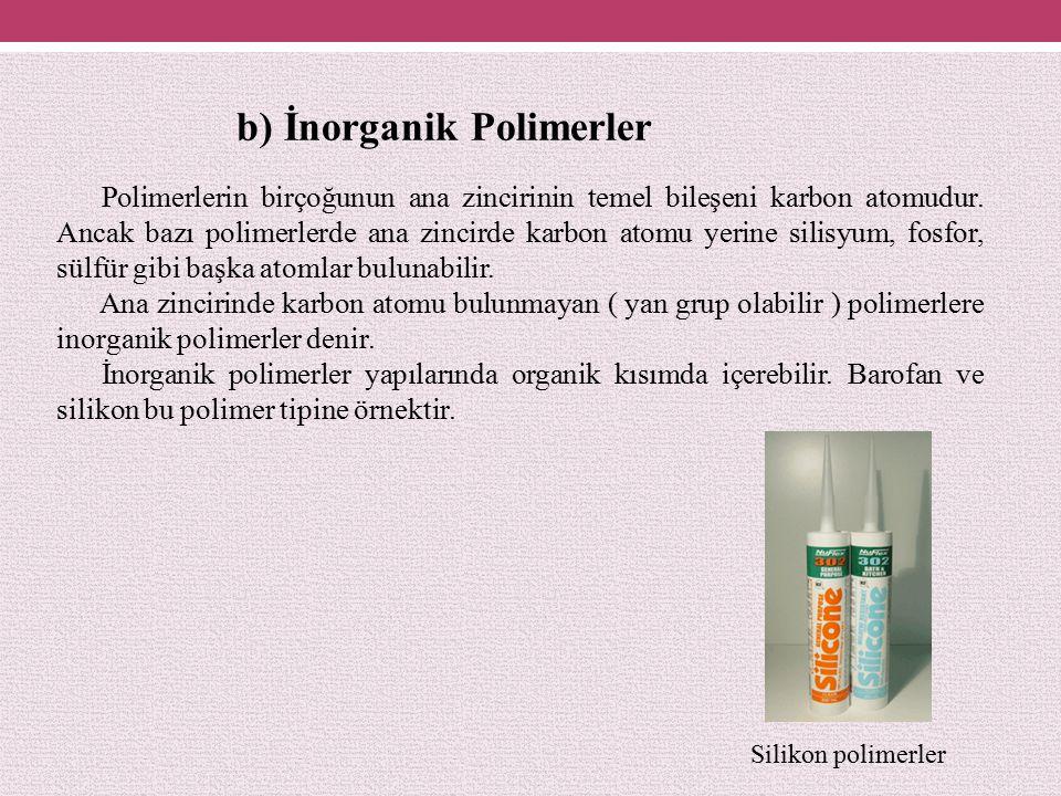 b) İnorganik Polimerler