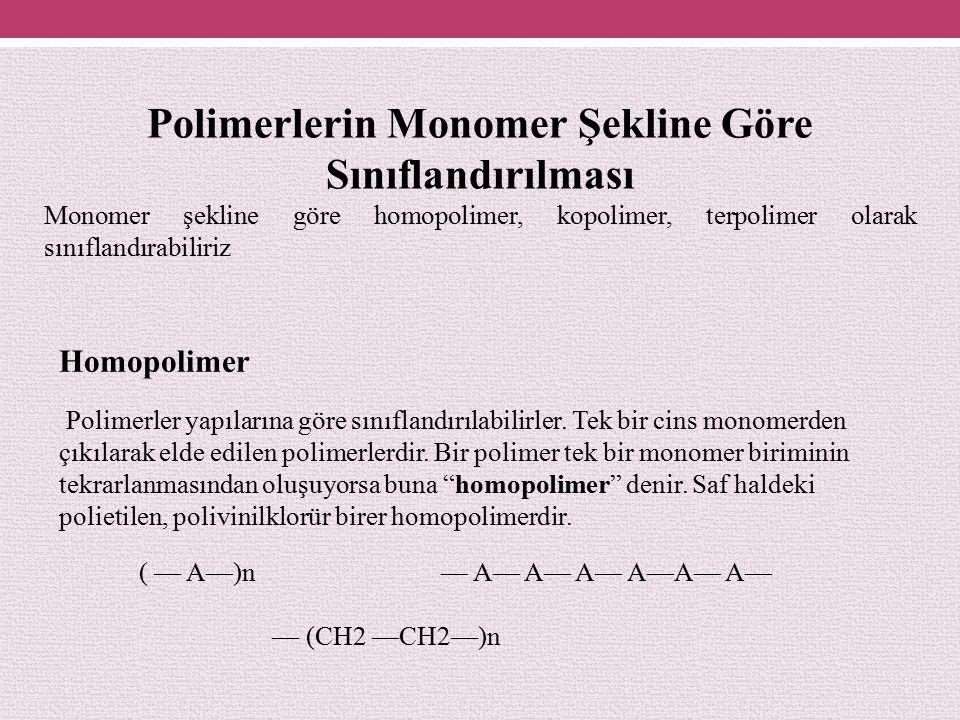 Polimerlerin Monomer Şekline Göre Sınıflandırılması