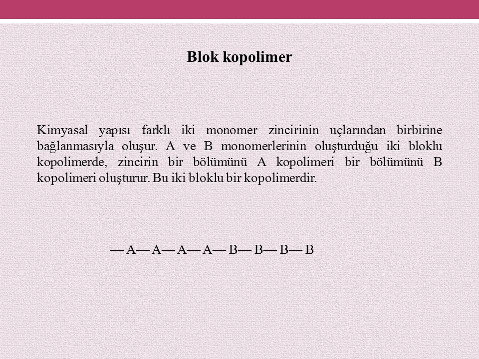 Blok kopolimer