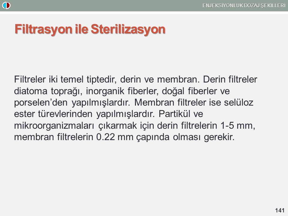 Filtrasyon ile Sterilizasyon