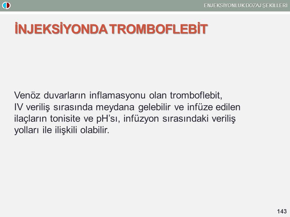 İNJEKSİYONDA TROMBOFLEBİT