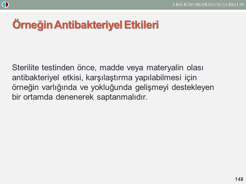 Örneğin Antibakteriyel Etkileri