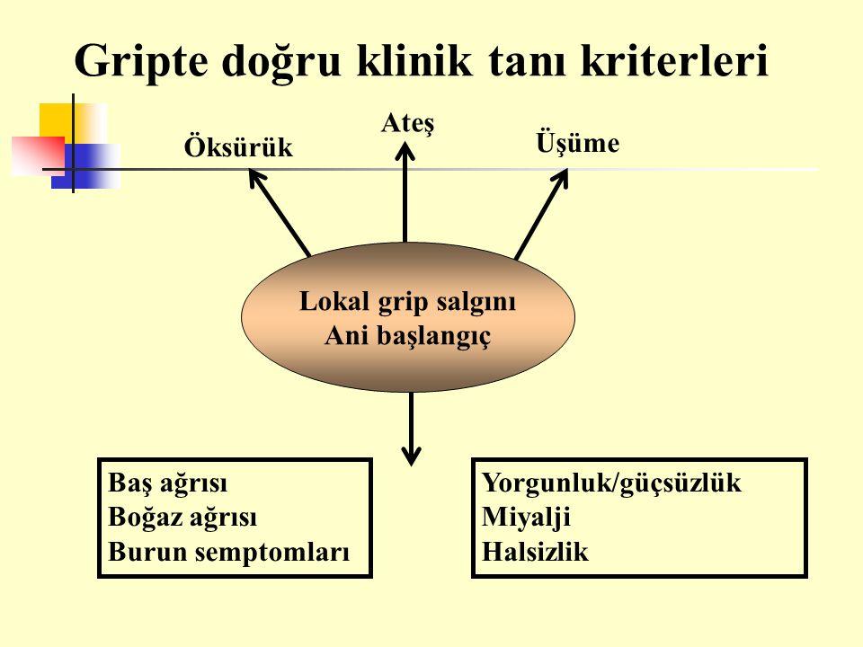 Gripte doğru klinik tanı kriterleri