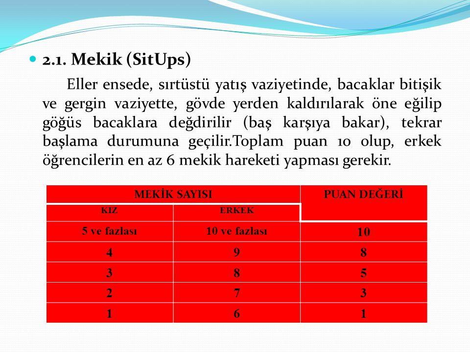 2.1. Mekik (SitUps)