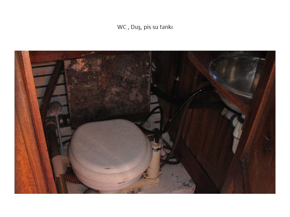 WC , Duş, pis su tankı