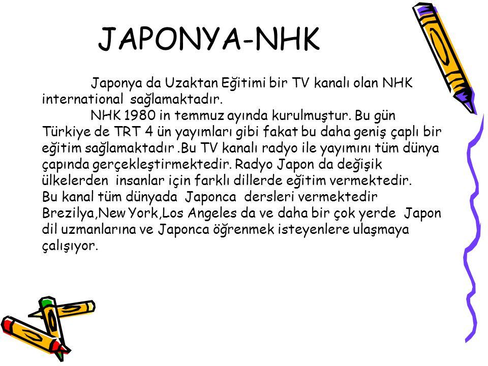 JAPONYA-NHK international sağlamaktadır.