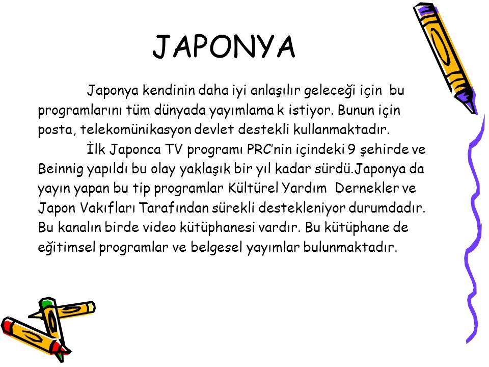 JAPONYA Japonya kendinin daha iyi anlaşılır geleceği için bu