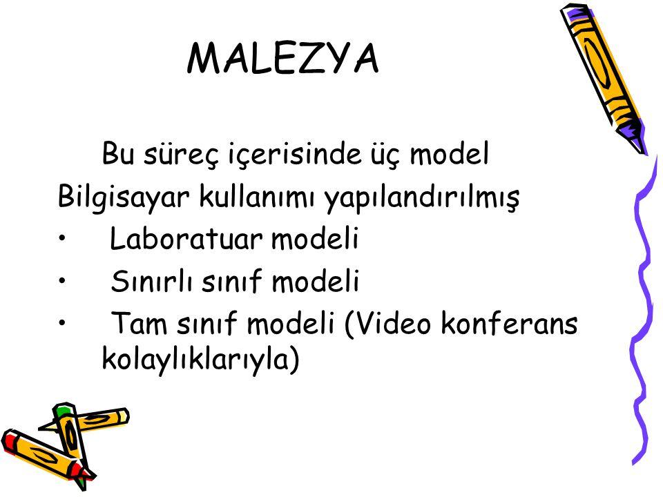 MALEZYA Bu süreç içerisinde üç model