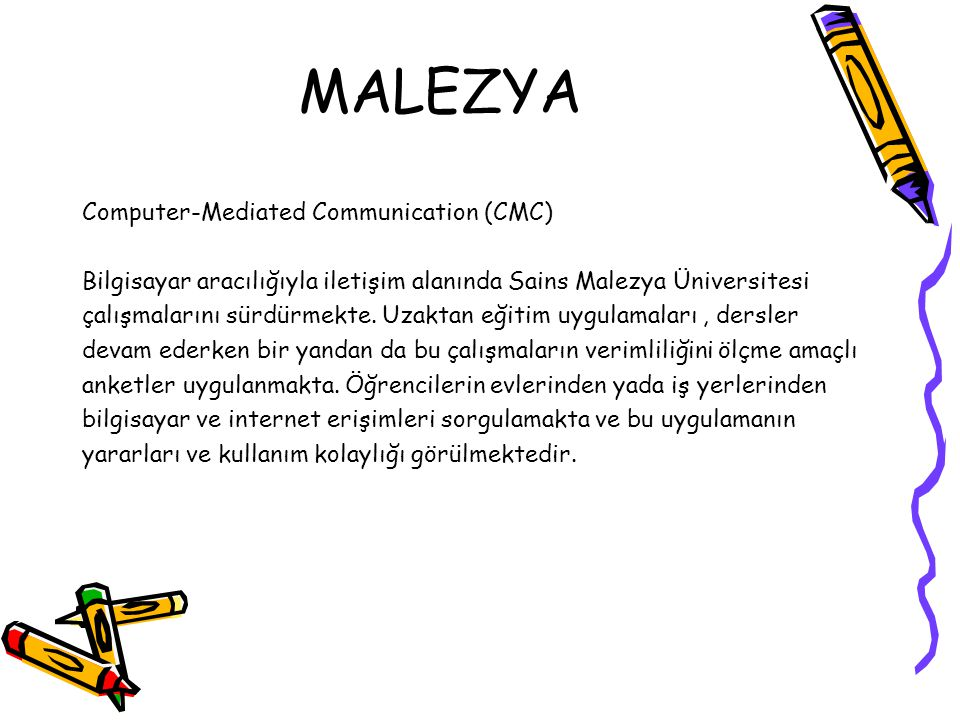 MALEZYA Computer-Mediated Communication (CMC)