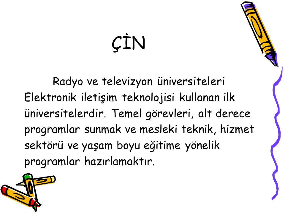 ÇİN Radyo ve televizyon üniversiteleri