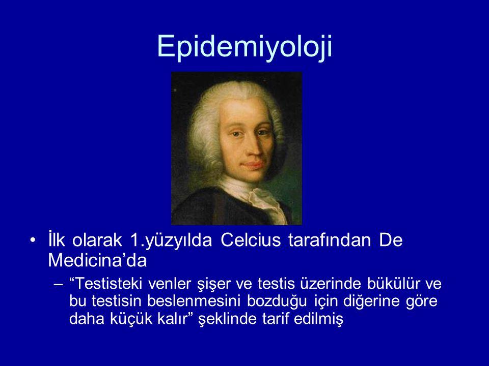 Epidemiyoloji İlk olarak 1.yüzyılda Celcius tarafından De Medicina'da