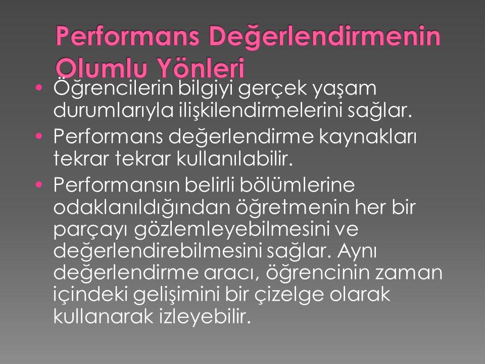 Performans Değerlendirmenin Olumlu Yönleri