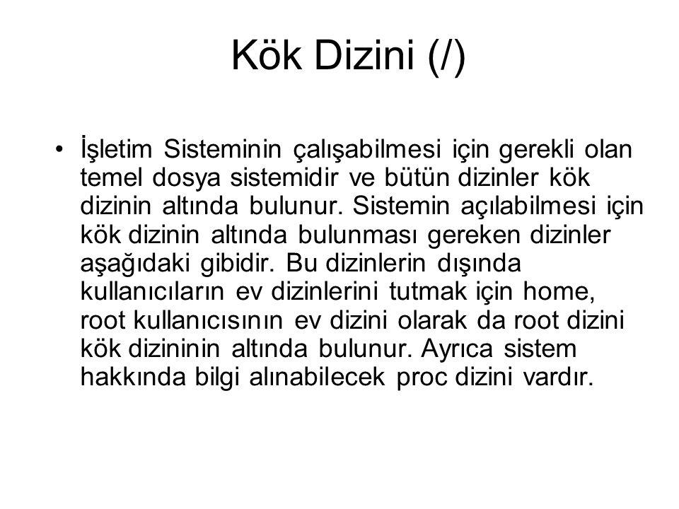 Kök Dizini (/)
