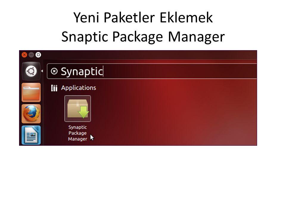 Yeni Paketler Eklemek Snaptic Package Manager