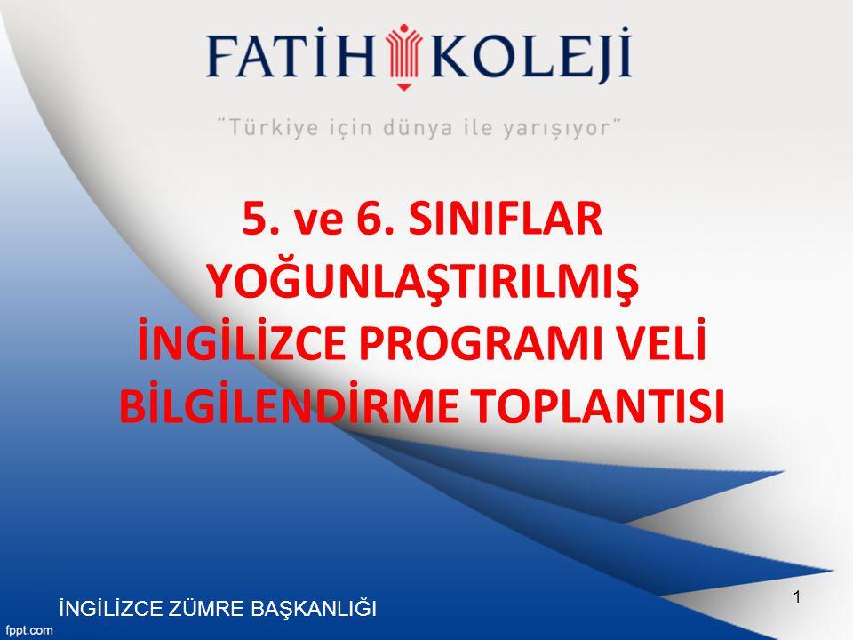 5. ve 6. SINIFLAR YOĞUNLAŞTIRILMIŞ İNGİLİZCE PROGRAMI VELİ BİLGİLENDİRME TOPLANTISI