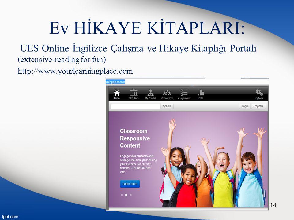 Ev HİKAYE KİTAPLARI: UES Online İngilizce Çalışma ve Hikaye Kitaplığı Portalı (extensive-reading for fun)