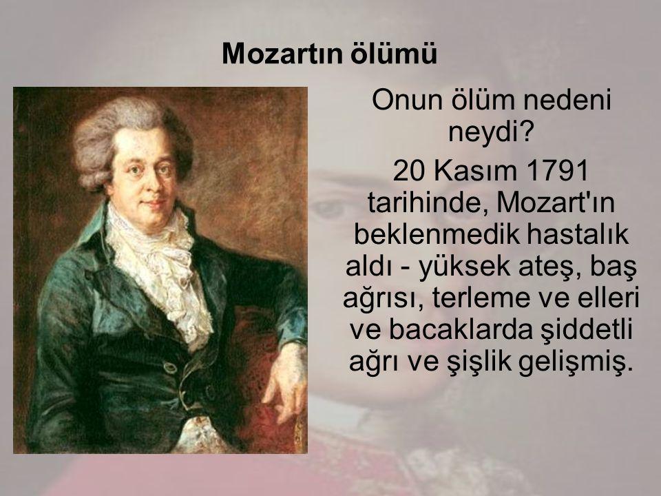 Mozartın ölümü Onun ölüm nedeni neydi