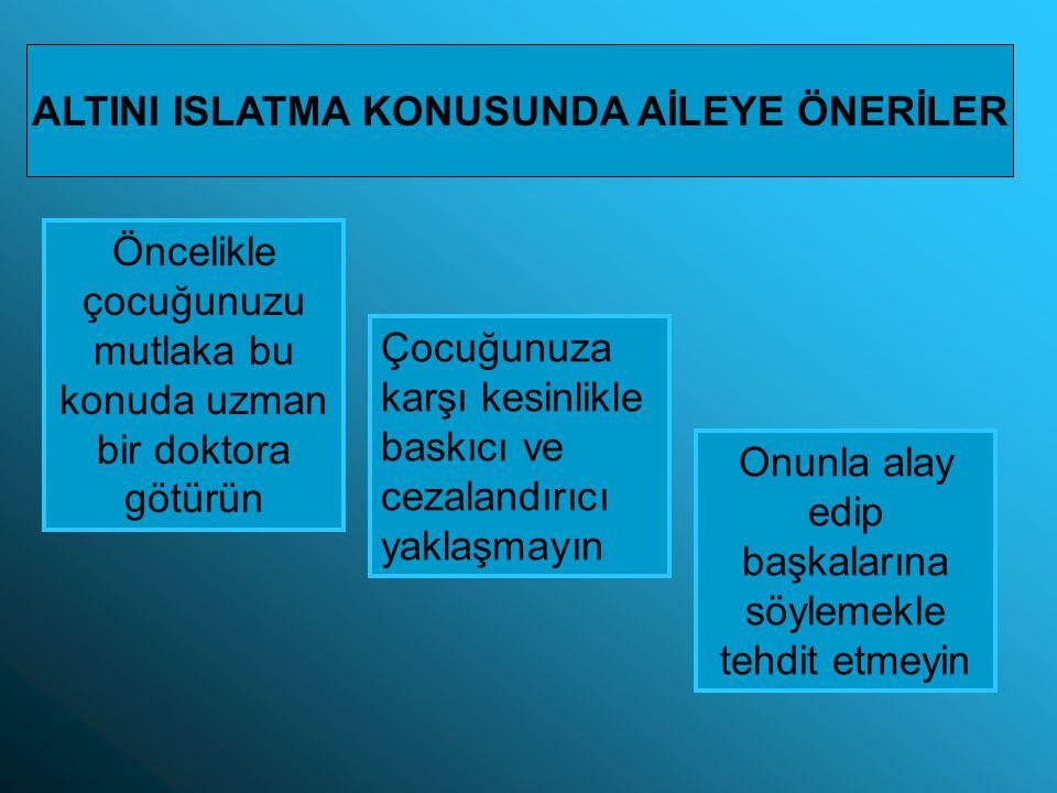 ALTINI ISLATMA KONUSUNDA AİLEYE ÖNERİLER