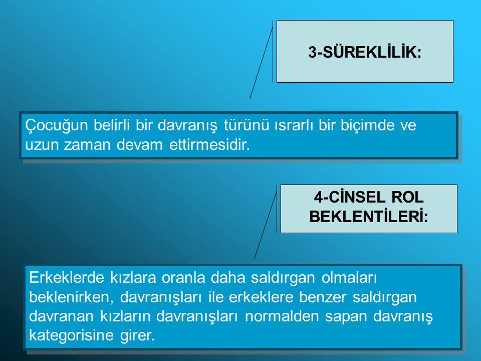 4-CİNSEL ROL BEKLENTİLERİ:
