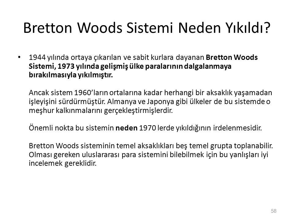 Bretton Woods Sistemi Neden Yıkıldı