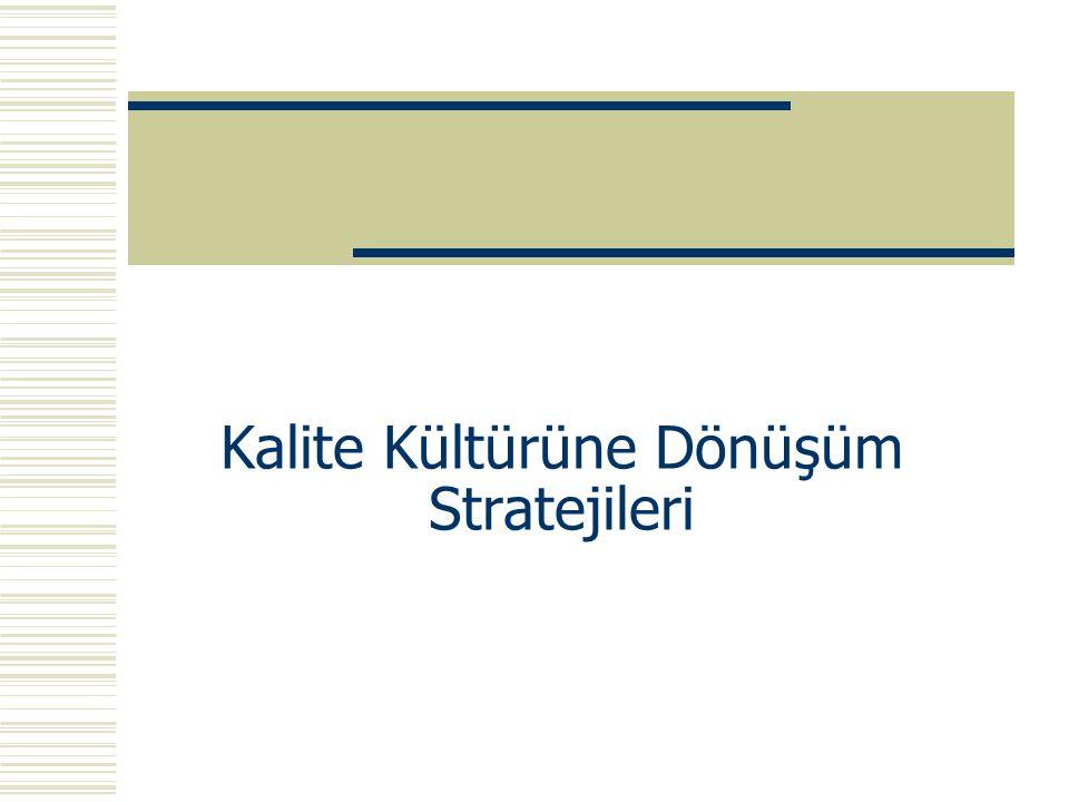 Kalite Kültürüne Dönüşüm Stratejileri