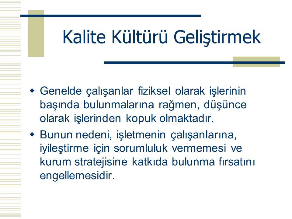 Kalite Kültürü Geliştirmek