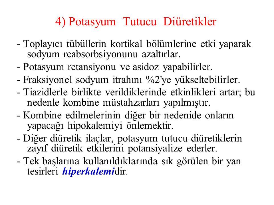 4) Potasyum Tutucu Diüretikler