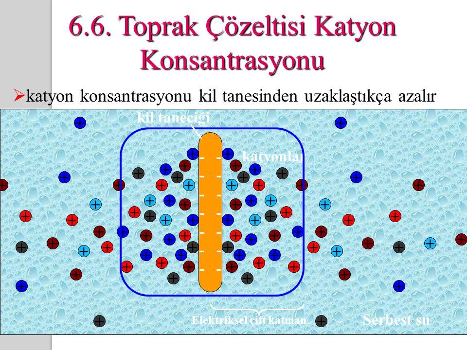 6.6. Toprak Çözeltisi Katyon Konsantrasyonu