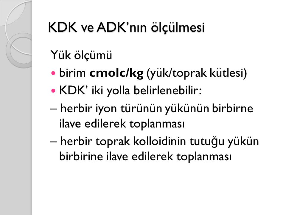 KDK ve ADK'nın ölçülmesi