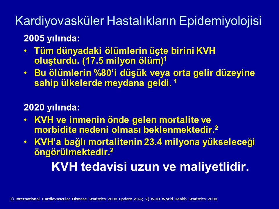 Kardiyovasküler Hastalıkların Epidemiyolojisi