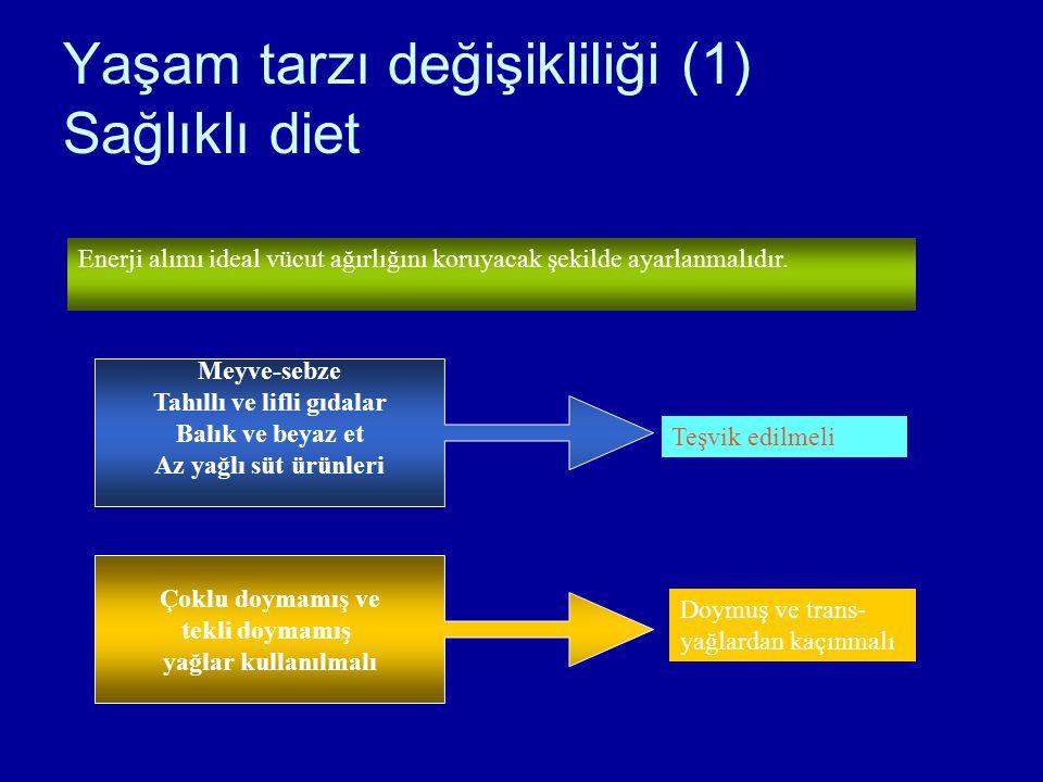 Yaşam tarzı değişikliliği (1) Sağlıklı diet