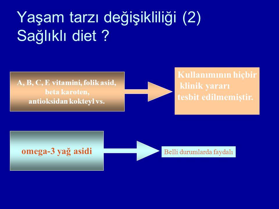 Yaşam tarzı değişikliliği (2) Sağlıklı diet