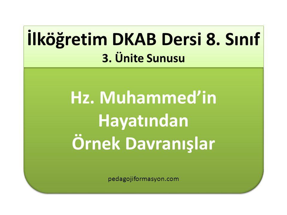 İlköğretim DKAB Dersi 8. Sınıf 3. Ünite Sunusu