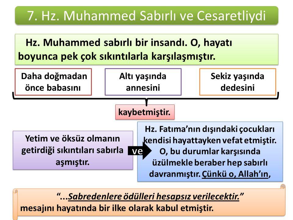 7. Hz. Muhammed Sabırlı ve Cesaretliydi