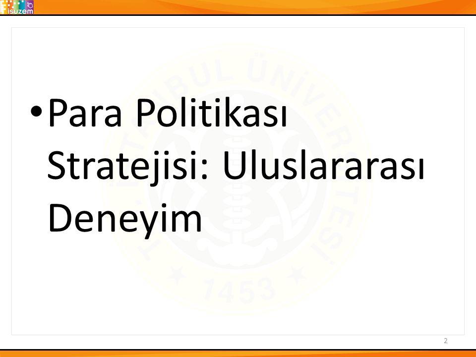 Para Politikası Stratejisi: Uluslararası Deneyim