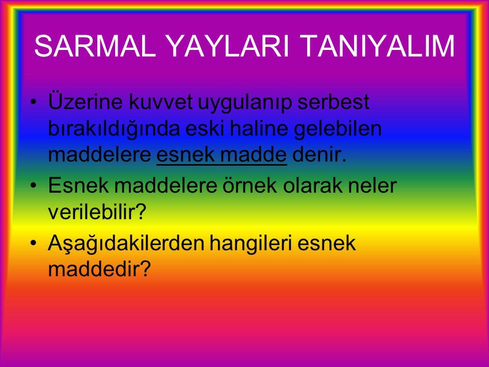 SARMAL YAYLARI TANIYALIM