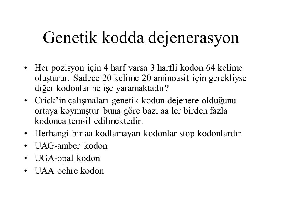 Genetik kodda dejenerasyon