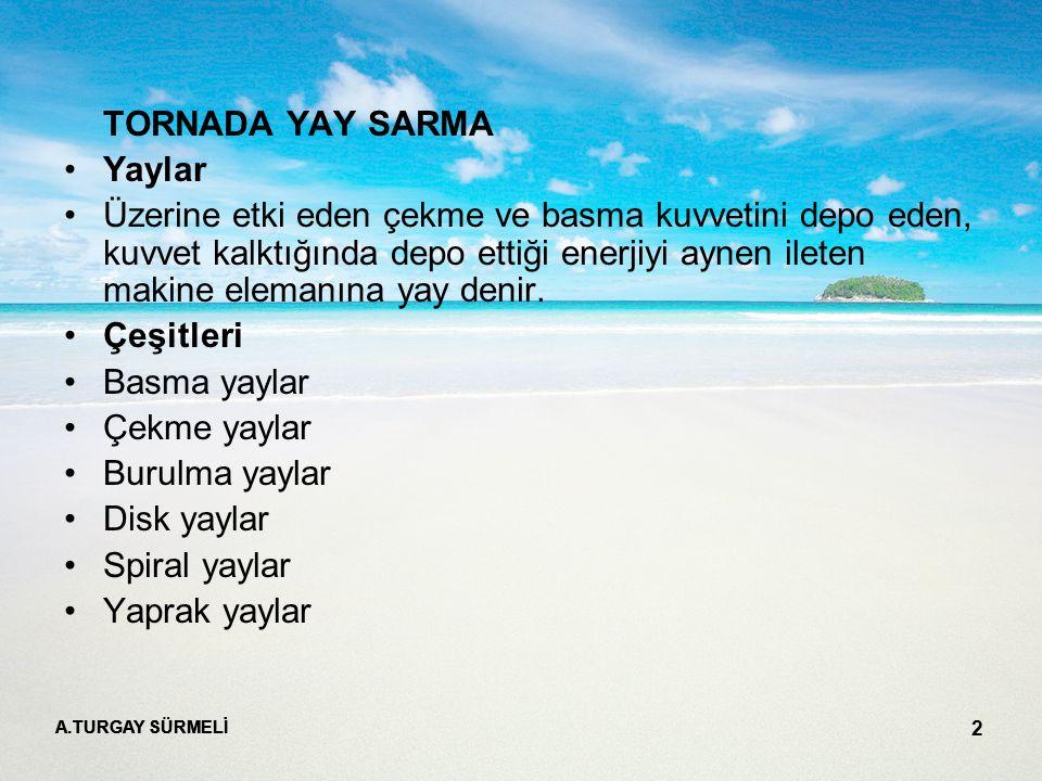 TORNADA YAY SARMA Yaylar
