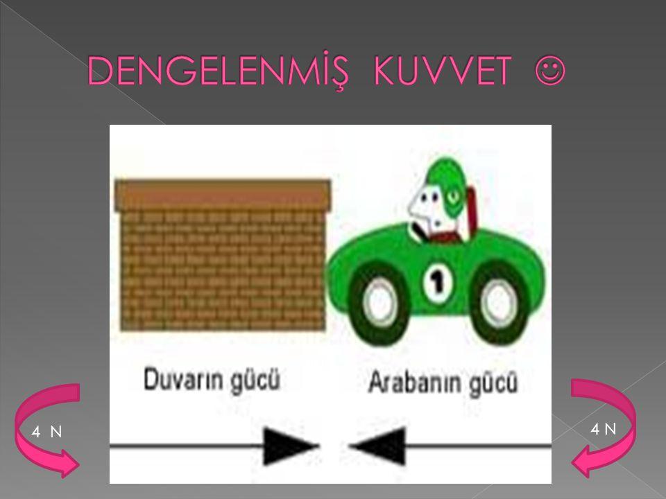 DENGELENMİŞ KUVVET  4 N 4 N
