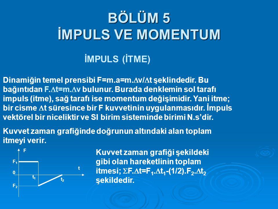 BÖLÜM 5 İMPULS VE MOMENTUM