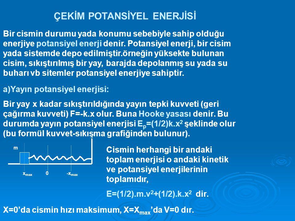 ÇEKİM POTANSİYEL ENERJİSİ