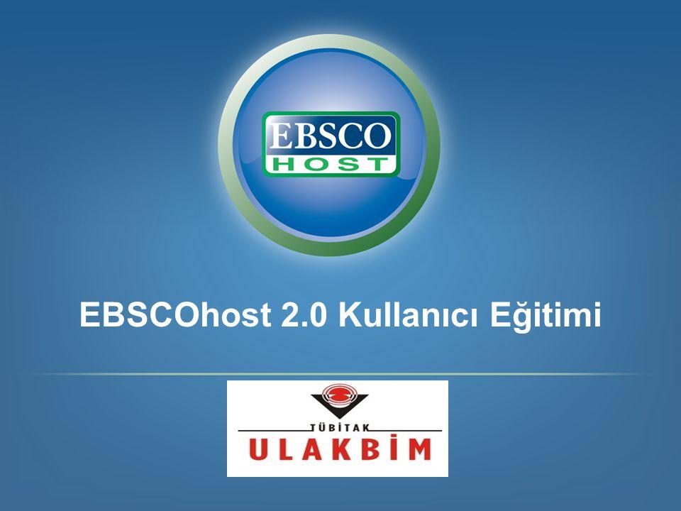 EBSCOhost 2.0 Kullanıcı Eğitimi