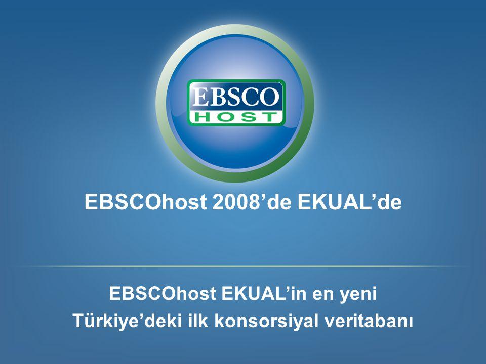 EBSCOhost 2008'de EKUAL'de