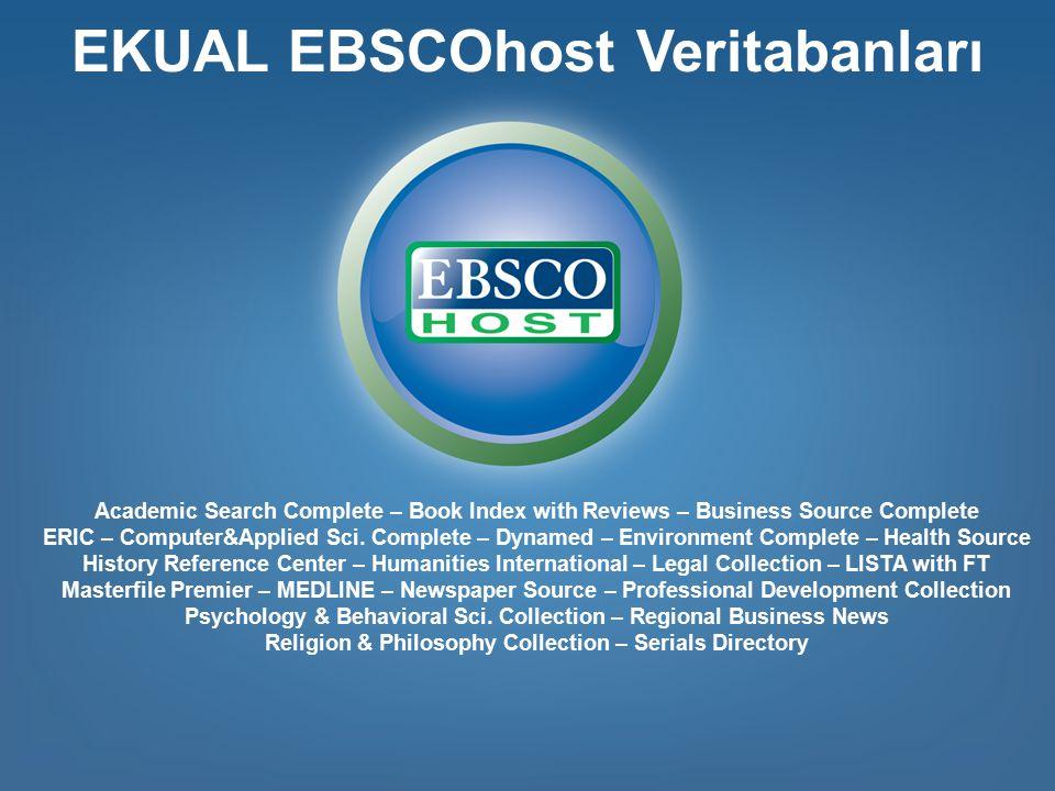EKUAL EBSCOhost Veritabanları