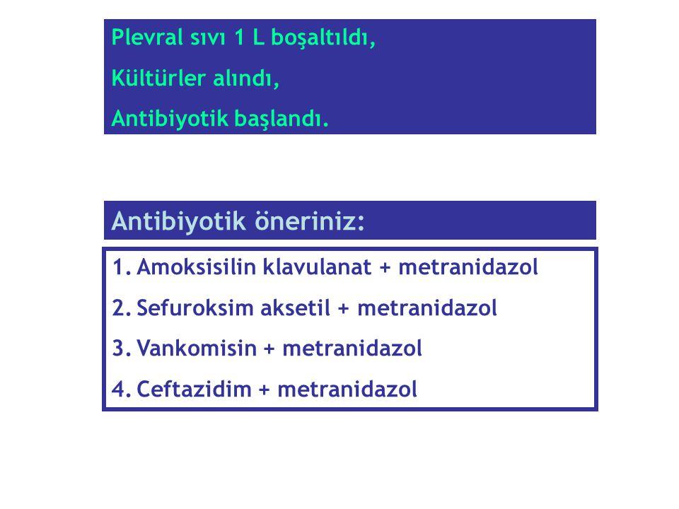 Antibiyotik öneriniz: